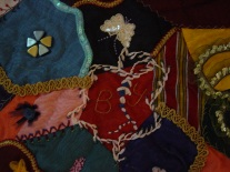 Crazy patchwork örtü